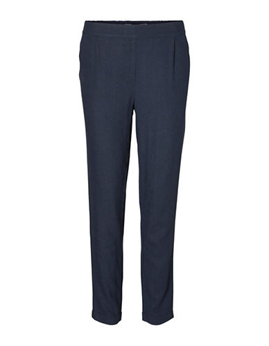 Vero Moda Milo Linen-Blend Pants-BLUE-Medium 89104982_BLUE_Medium