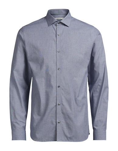 Jack And Jones Premium Regular-Fit Long Sleeve Shirt-BLUE-Small