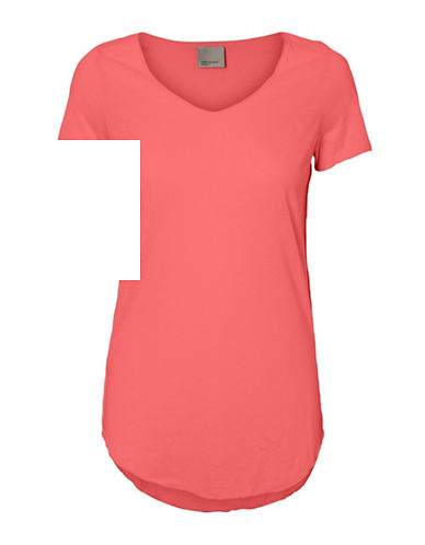 Vero Moda Scoop Neck Short Sleeve Top-PINK-Medium 88929079_PINK_Medium