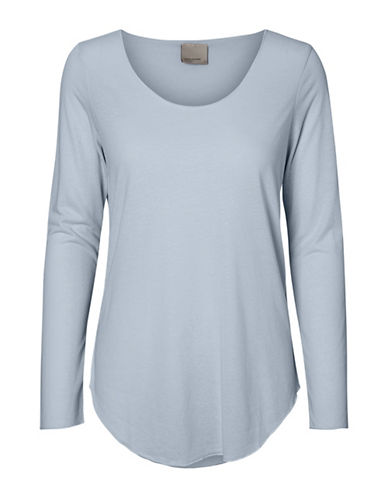 Vero Moda Lua Long Sleeve Top-BLUE-X-Small 88911479_BLUE_X-Small