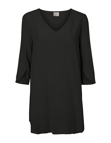 Vero Moda V-Neck Tunic-BLACK-Small