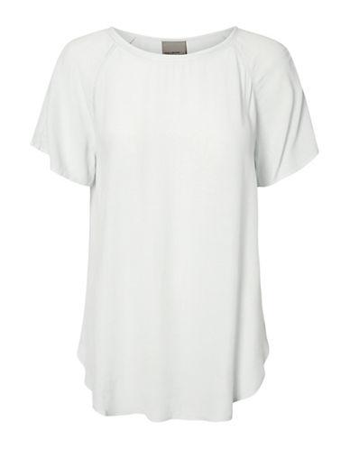 Vero Moda Draped Tee-WHITE-Medium 88929127_WHITE_Medium