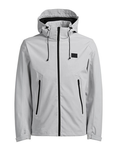 Jack & Jones Light Jacket with Hood-WHITE-X-Large