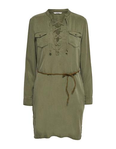 Only onlARIZONA Lace Up Tunic Dress-GREEN-38