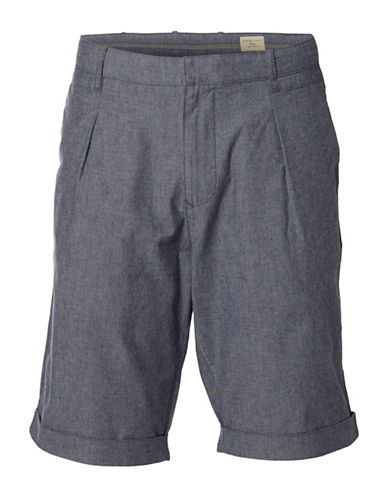 Selected Homme Rolled Cuff Shorts-BLUE-Small