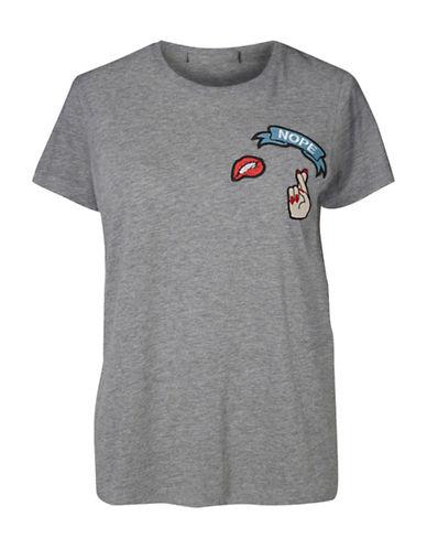 Vero Moda Nope Badge T-Shirt-GREY-X-Small 88743036_GREY_X-Small