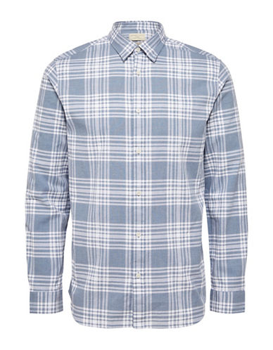 Selected Homme Check Sport Shirt-BLUE-Large