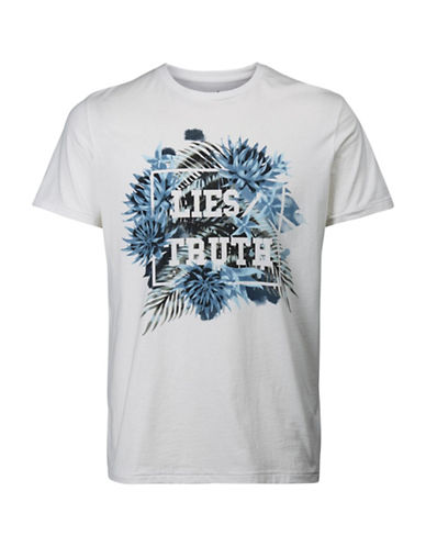 Jack & Jones Graphic Printed Cotton Tee-WHITE-X-Large 89085567_WHITE_X-Large