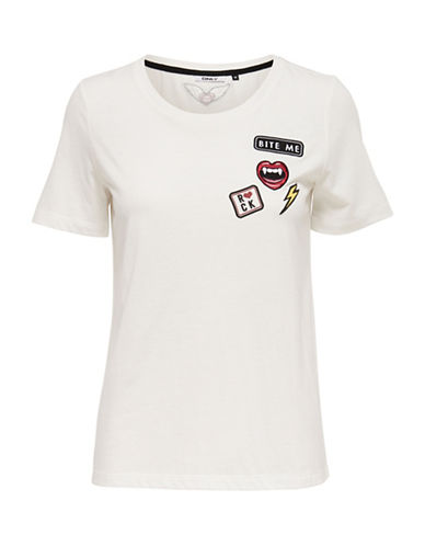 Only OnlROCKING COOL Patches Top-WHITE-X-Small 88829987_WHITE_X-Small
