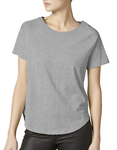 Noisy May Short Sleeve Top-GREY-Large