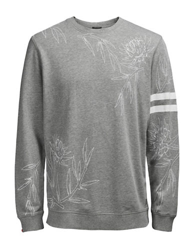 Jack & Jones Christian Printed Sweatshirt-GREY-Large 89085551_GREY_Large