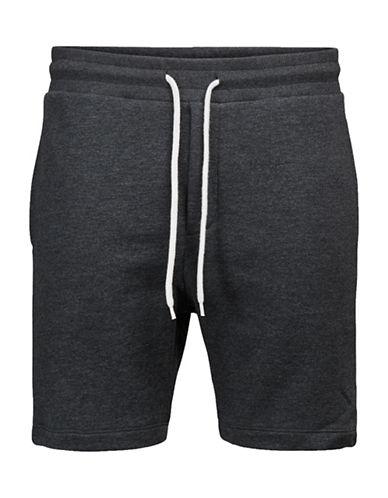 Jack & Jones Heathered Drawstring Sweat Shorts-BLACK-XX-Large 89281365_BLACK_XX-Large