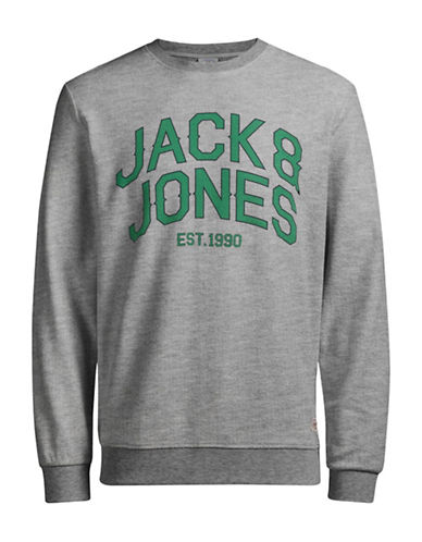 Jack & Jones Graphic Cotton Sweatshirt-GREY-X-Large 88975063_GREY_X-Large