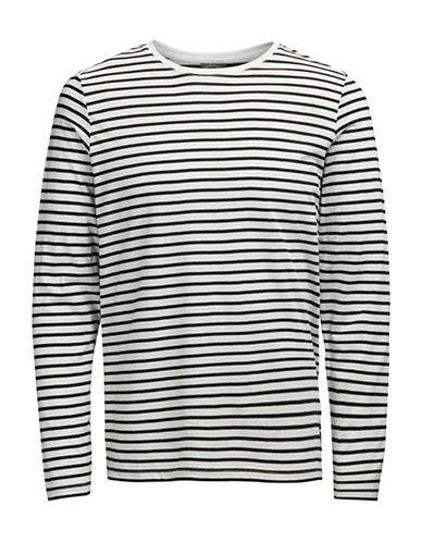 Jack & Jones Navy Striped T-Shirt-WHITE-XX-Large 88796665_WHITE_XX-Large