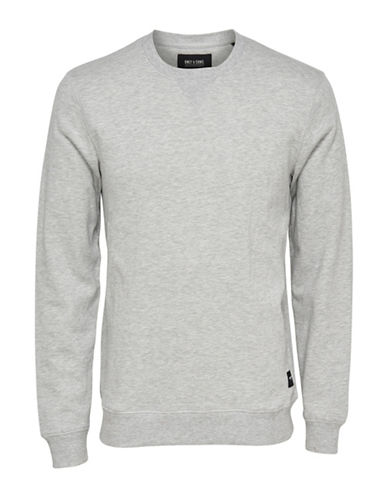 Only And Sons New Crew Neck Unbrushed Sweatshirt-GREY-X-Large 89001955_GREY_X-Large