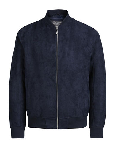 Jack & Jones Long-Sleeve Bomber Jacket-BLUE-Medium