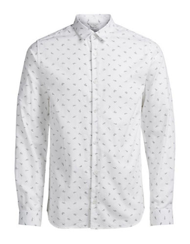 Jack & Jones JCO Nobel Abstract Printed Sport Shirt-WHITE-X-Large