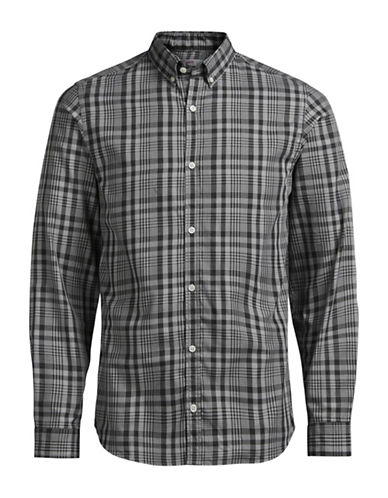 Jack & Jones Jornoah Plaid Sport Shirt-GREY-Small