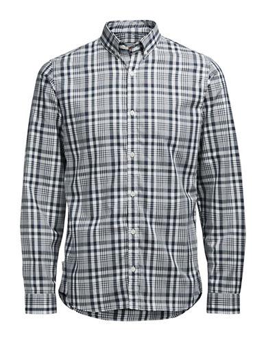 Jack & Jones Jornoah Plaid Sport Shirt-NAVY-X-Large