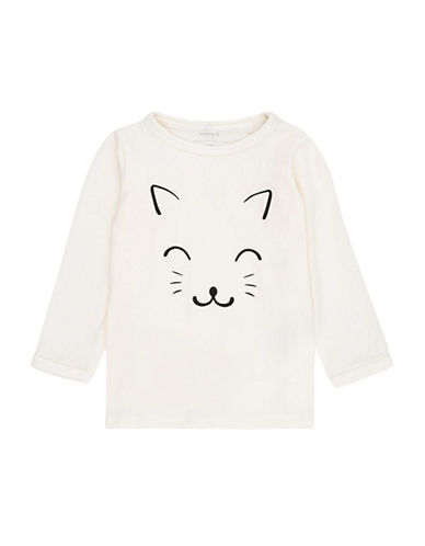 Name It Long Sleeve Graphic Top-WHITE-Newborn