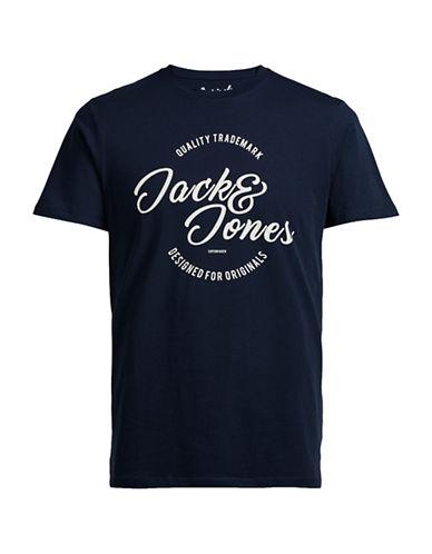Jack & Jones Jornew Raffa Cotton T-Shirt-NAVY-Medium