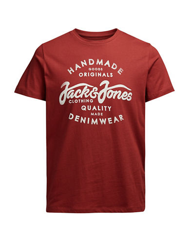 Jack & Jones Jornew Raffa Cotton T-Shirt-RED-Small