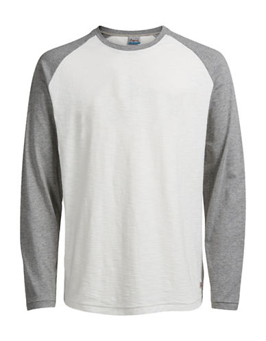 Jack & Jones Long Sleeve Baseball Top-WHITE-X-Large 88893019_WHITE_X-Large