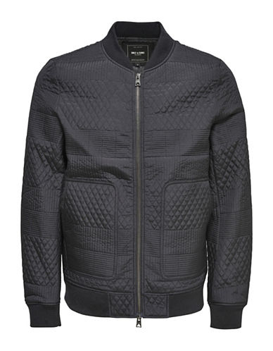 Only And Sons Quilt Bomber Jacket-BLACK-Medium 89001923_BLACK_Medium