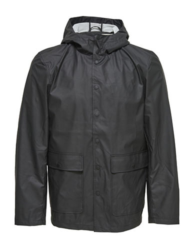 Only And Sons Rain Jacket-BLACK-Large 89001914_BLACK_Large