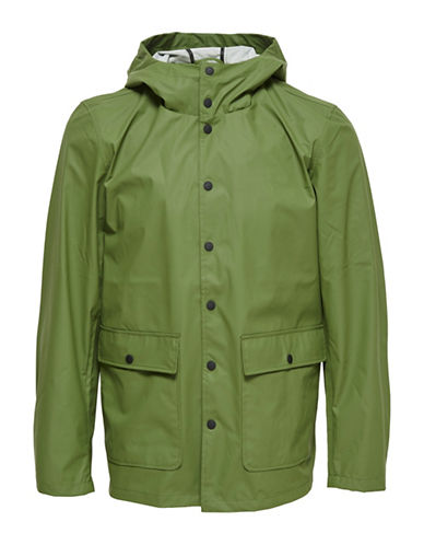 Only And Sons onsBERZAN Rain Jacket-GREEN-Large 89001919_GREEN_Large