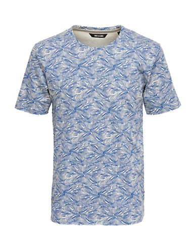 Only And Sons Thor Fishtale Tee-BLUE-Large