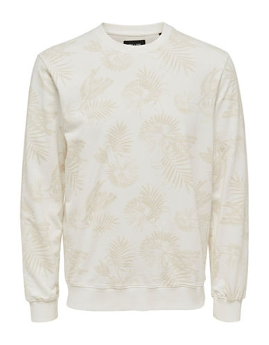 Only And Sons Washed Pullover-WHITE-Medium 88915296_WHITE_Medium
