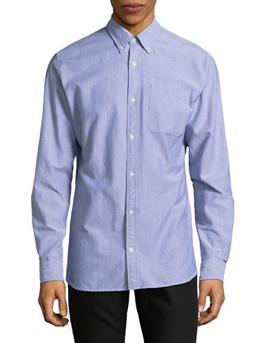Jack And Jones Premium Slim Fit Jprclassic Long Sleeve Shirt-BLUE-Large