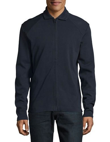 Selected Homme Classic Sweat Jacket-BLUE-Small