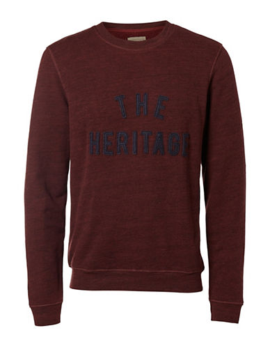 Selected Homme Heritage Crew Neck Sweater-RED-Small