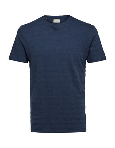Selected Homme O-Neck Short Sleeve Tee-BLUE-XX-Large