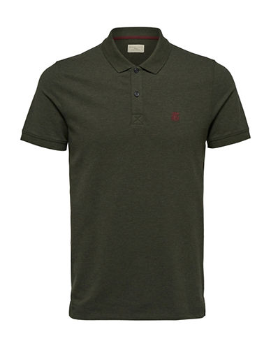 Selected Homme SHHARO Embroidered Polo-FOREST GREEN-XX-Large