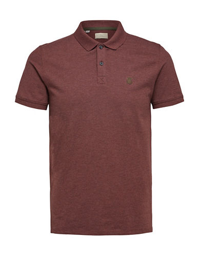 Selected Homme SHHARO Embroidered Polo-PURPLE-Large