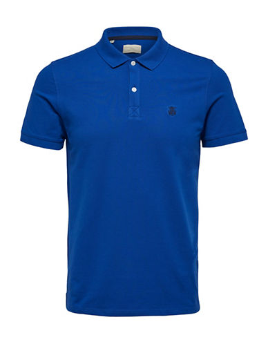 Selected Homme SHHARO Embroidered Polo-ROYAL BLUE-Large