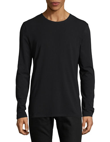 Selected Homme Long-Sleeve T-Shirt-BLACK-Large 89437068_BLACK_Large