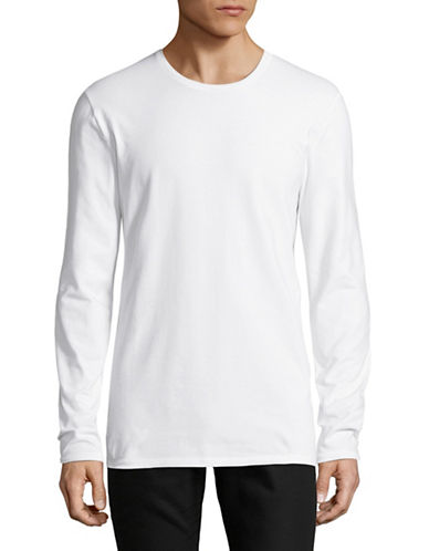 Selected Homme Long-Sleeve T-Shirt-WHITE-Large