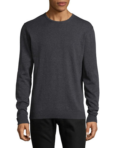Selected Homme Cotton-Silk Sweater-GREY-Medium