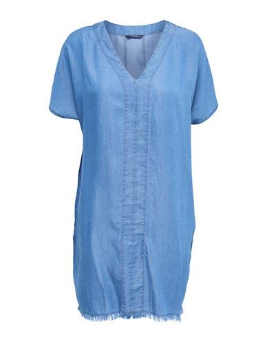 Only Raw Denim Shift Dress-BLUE-38