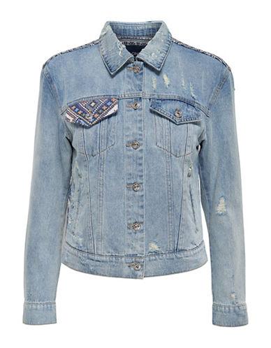 Only Blanket Denim Jacket-BLUE-36