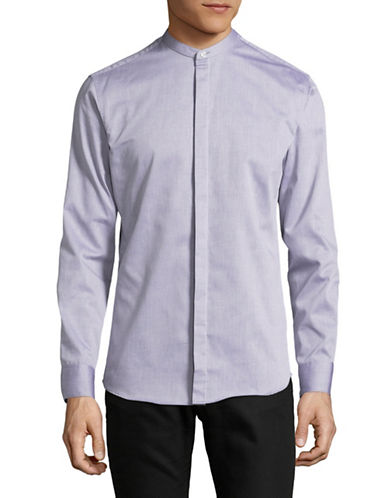 Selected Homme Cotton Long Sleeve Sport Shirt-WHITE-Small