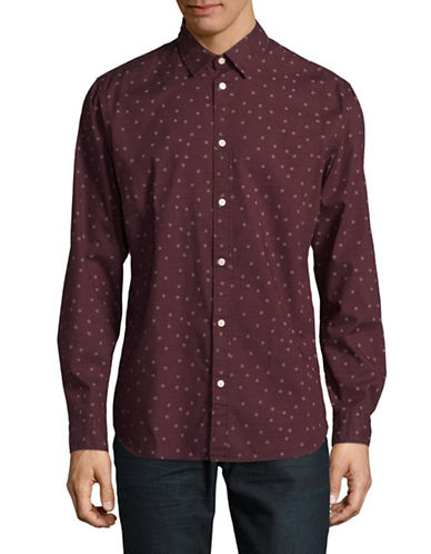 Selected Homme Floral Neat Shirt-RED-Small