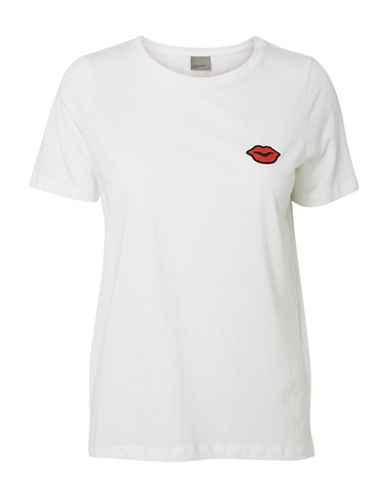 Vero Moda Annie Short Sleeve Tee-WHITE-Large 88985161_WHITE_Large