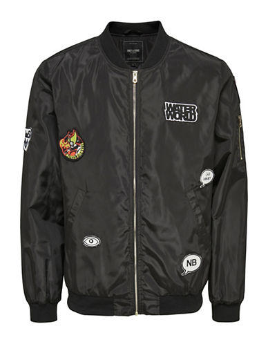 Only And Sons Bomber Jacket-BLACK-XX-Large 89001969_BLACK_XX-Large