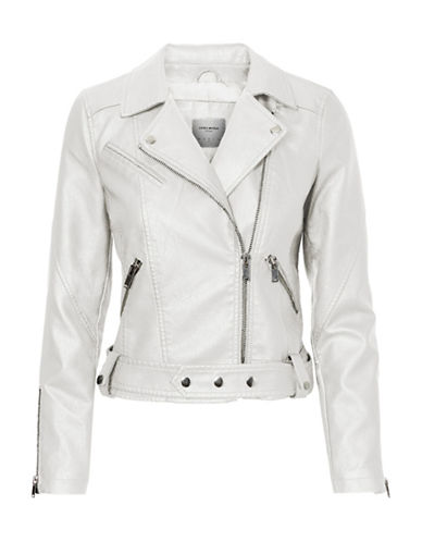Vero Moda Mona Short Jacket-WHITE-Large 88929156_WHITE_Large