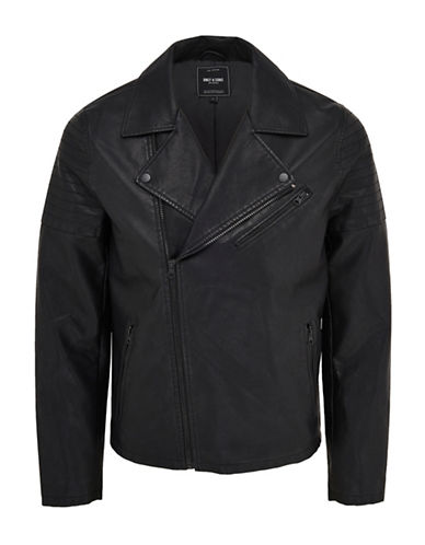 Only And Sons onsPUAZY Biker Jacket-BLACK-XX-Large 88896270_BLACK_XX-Large